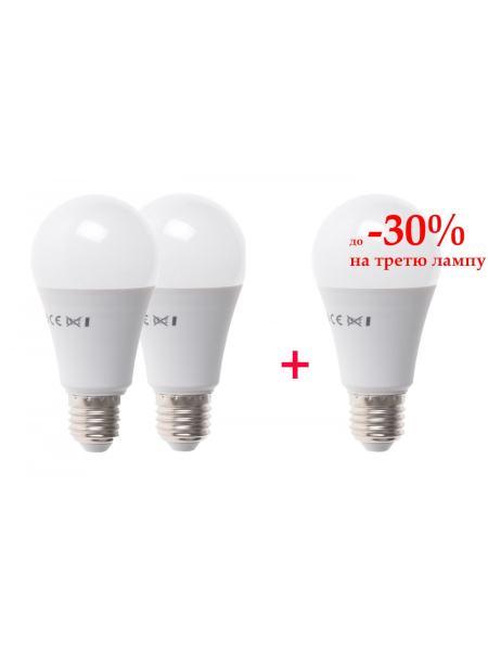 Набор светодиодных ламп 3шт LED E27  12W WW A60-PA