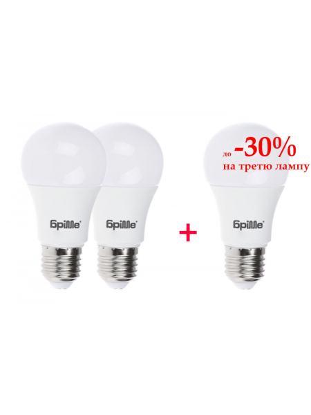Набор светодиодных ламп 3шт LED E27 7W  WW A60-PA
