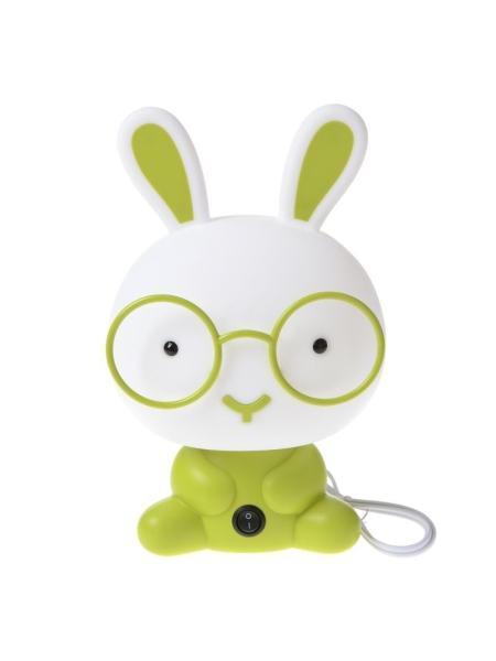 Ночник настольный кролик зеленый KL-446T/1 E14 GR