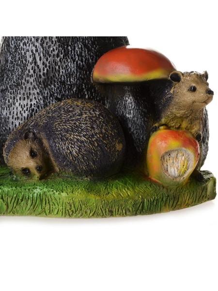 Садовая фигурка Подосиновик с ежик и яблоком