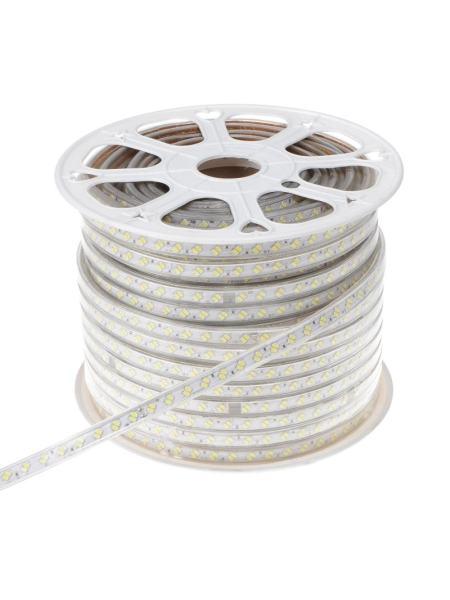 Светодиодная лента в силиконе холодный оттенок BY-033/120 220V 100м 5730 CW IP65