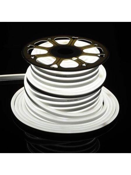 Светодиодная лента в силиконе холодный оттенок BY-035/120 220V 50м 5730 CW NEON