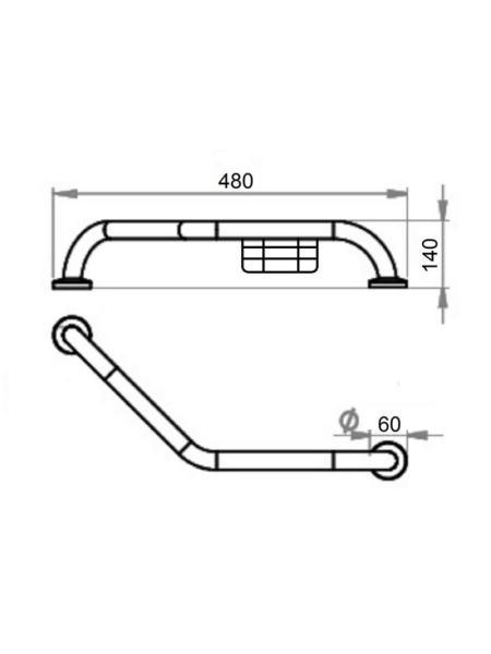 Поручень для ванной Cosh (CRM)S-82-105