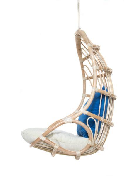 Подвесное кресло-качель Шелл из натурального ротанга, Cruzo, ks0008