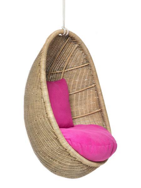 Подвесное кресло-качель, кокон Ирма из натурального ротанга Cruzo ks0010