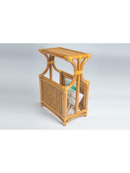 Столик-газетница натуральный ротанг королевский дуб, Cruzo, st0003