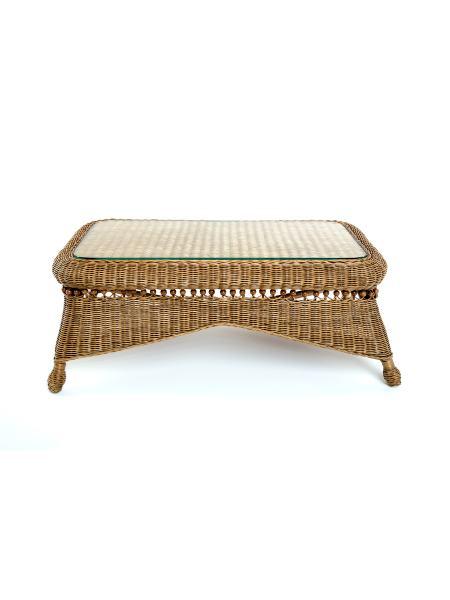 Столик кофейный Виктория натуральный ротанг светло-коричневый, Cruzo d0131