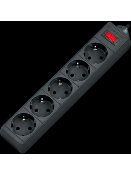 Сетевой фильтр Defender ES 5m 5 раз. Black (99486)