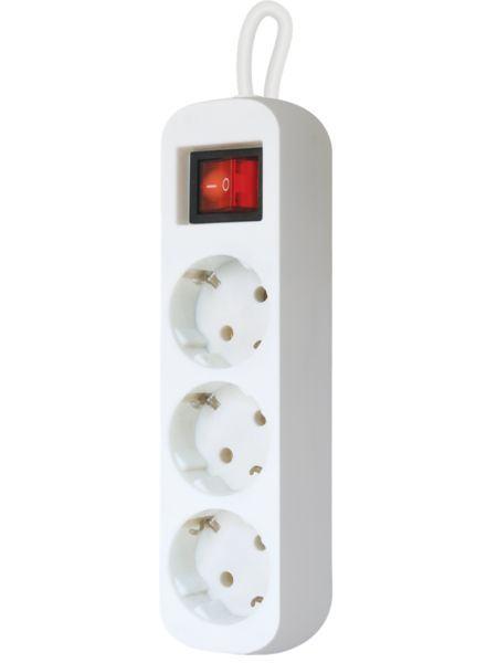 Сетевой фильтр Defender S318 1.8 m 3 раз Switch White (99233)