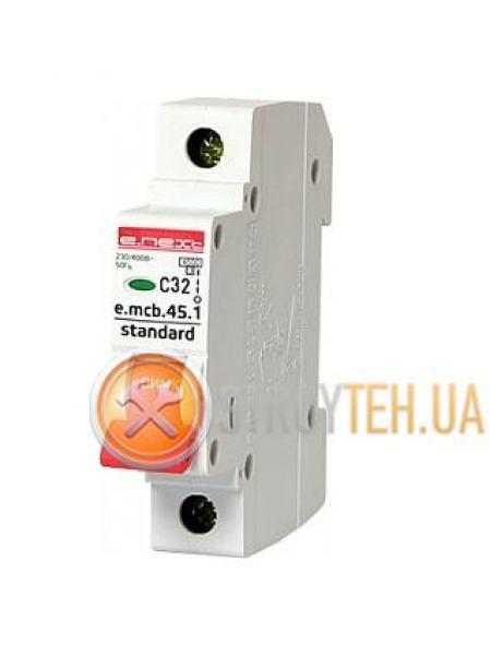 E.NEXT e.mcb.stand.45.1.C32, 1p, 32А, C, 4.5 кА Модульный автоматический выключатель