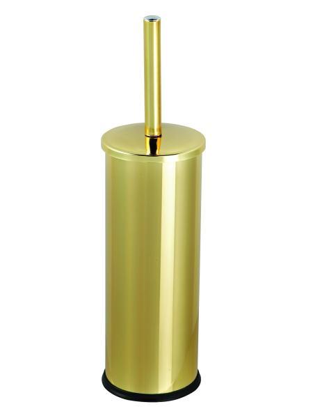 Комплект: ведро для мусора с педалью 5л + ершик для унитаза, цвет золото