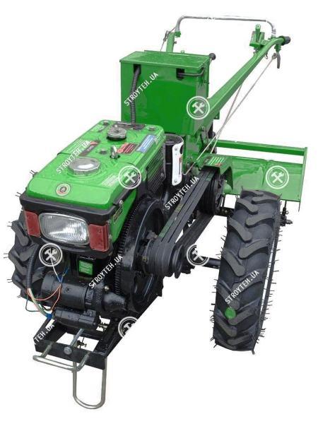Мотоблок дизельный Forte МД-81Е, без плуга (зеленый)