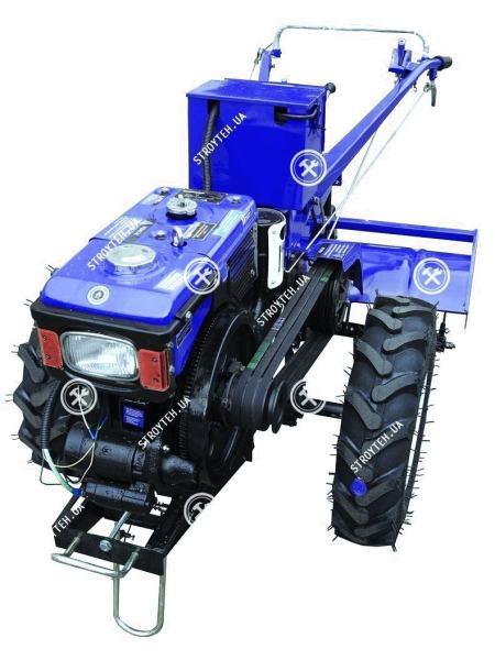 Мотоблок дизельный Forte МД-81ЕGT, без плуга (синий)