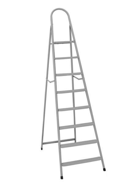 """Лестница-стремянка металлическая """"ИТАЛИЯ""""  9 ступеней с растяжками, h=1960 мм, max 150 кг ГОСПОДАР 79-1049"""