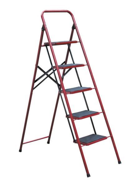 """Лестница-стремянка металлическая """"СЕМЬЯ"""" 5 ступеней с ковриком, h=1240 мм, max 150 кг ГОСПОДАР 79-1035"""
