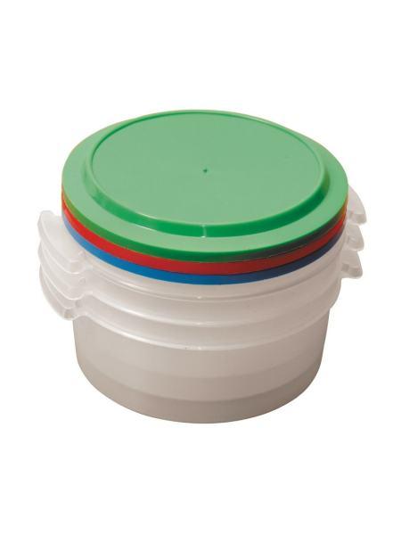 Судки пластиковые пищевые 1 л, набор 3 шт ГОСПОДАР 92-0059