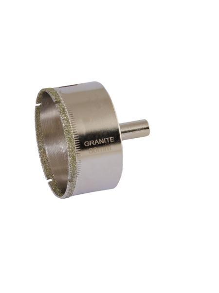 Сверло трубчатое с алмазным напылением для стекла и плитки  60 мм GRANITE 2-01-260