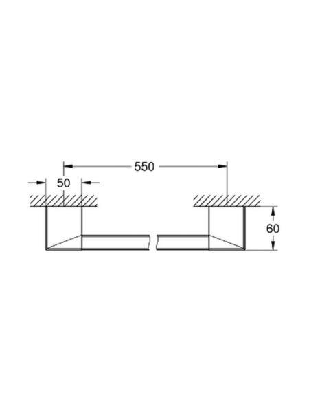 Поручень для ванной Grohe Selection Cube 40807000