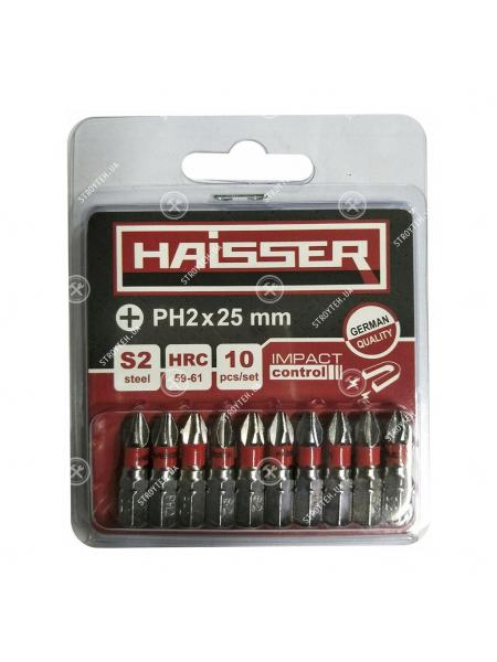 Набор бит Haisser PH2X25 мм (10шт)