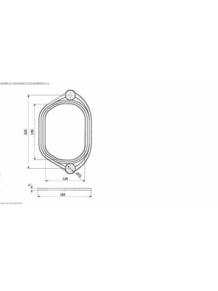 Ремкомплект для бака компакта K.K.POL тип Е, АКС/520