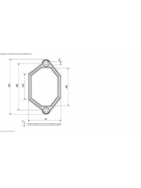 Ремкомплект для бака компакта K.K.POL тип U, АКС/522