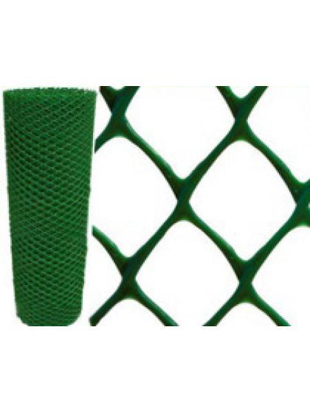 Клевер Сетка пластиковая 'ромб' яч. 30х30 мм, рул. 1.5х10 м (зеленая)