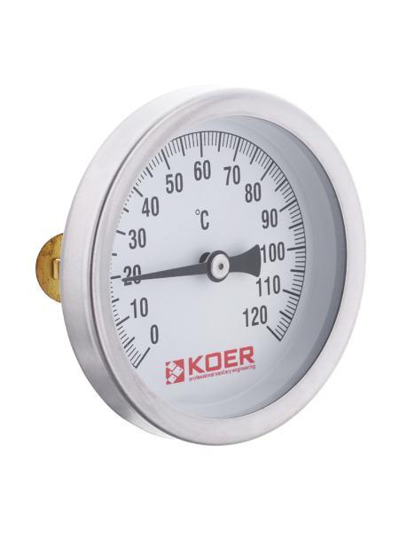 Термометр накладной с пружиной KOER KT.672A D=63мм (KR2897)