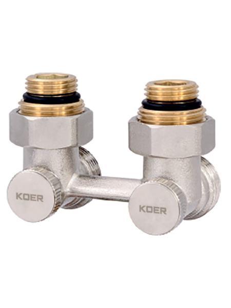 Узел нижнего подключения радиатора 3/4'' угловой (комплект) KOER KR.1132 (KR2816)