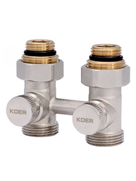 Узел нижнего подключения радиатора прямой 3/4'' (комплект) KOER KR.1131 (KR2815)