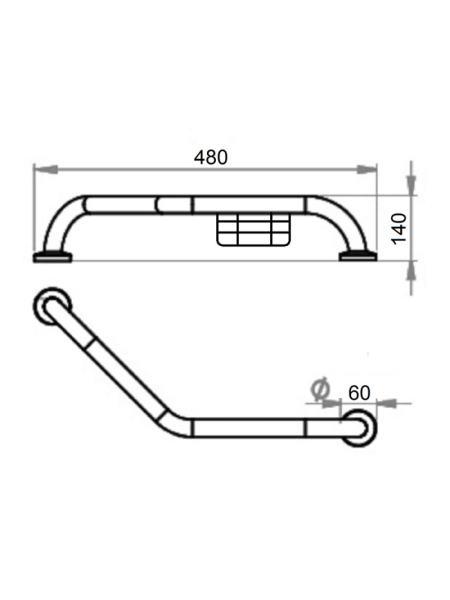 Поручень для ванной Lidz (CRM)-121.03.03