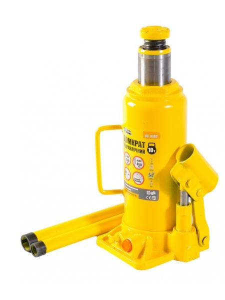 Домкрат гидравлический бутылочный 10 т, 230-460 мм MASTERTOOL 86-0100