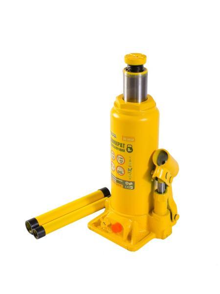 Домкрат гидравлический бутылочный  5 т, 216-413 мм MASTERTOOL 86-0050