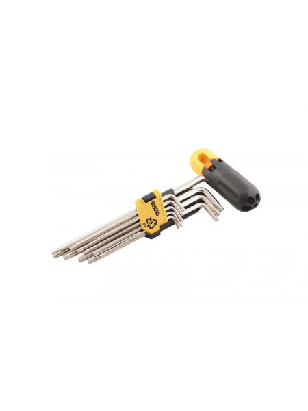 Ключи шестигранные с держателем набор 9 шт CrV удлиненные(1,5-10мм L74-172мм) MASTERTOOL 75-0958