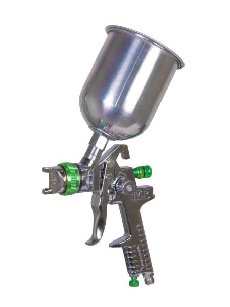 Краскопульт HVLP ВБ  600 мл, алюминий, Ø 1,3 мм, 150-220 л/мин, 3-4 бар MASTERTOOL 80-8907