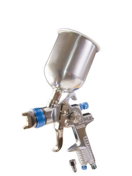 Краскопульт HVLP ВБ  600 мл, алюминий, Ø 1,4 мм, 150-220 л/мин, 3-4 бар MASTERTOOL 80-8905