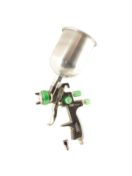 Краскопульт LVLP ВБ  600 мл, алюминий, Ø 1,3 мм, 125-170 л/мин, 1,5-2,5 бар MASTERTOOL 80-8804
