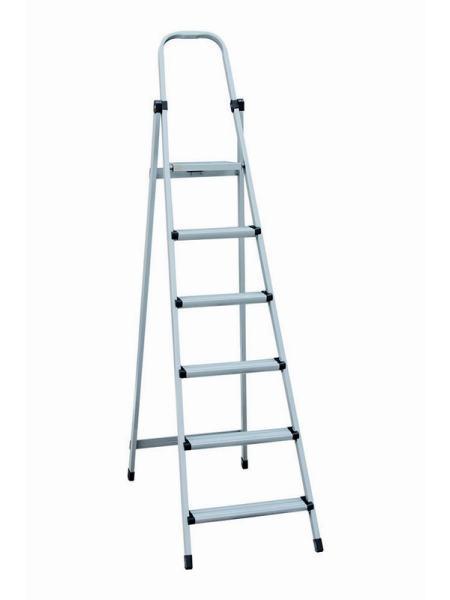 """Лестница-стремянка металлическая """"МАСТЕР""""  6 ступеней, h=1250 мм, max 150 кг MASTERTOOL 79-1056"""