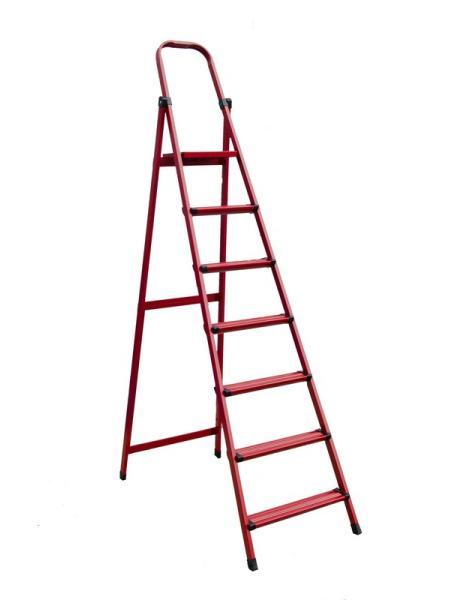 """Лестница-стремянка металлическая """"МАСТЕР""""  7 ступеней, h=1470 мм, max 150 кг MASTERTOOL 79-1057"""