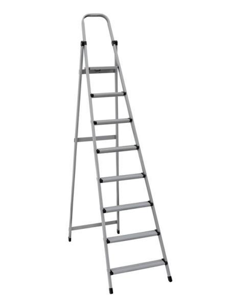 """Лестница-стремянка металлическая """"МАСТЕР""""  8 ступеней, h=1690 мм, max 150 кг MASTERTOOL 79-1058"""