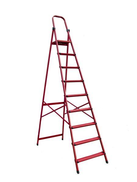 """Лестница-стремянка металлическая """"МАСТЕР""""  9 ступеней, h=1910 мм, max 150 кг MASTERTOOL 79-1059"""