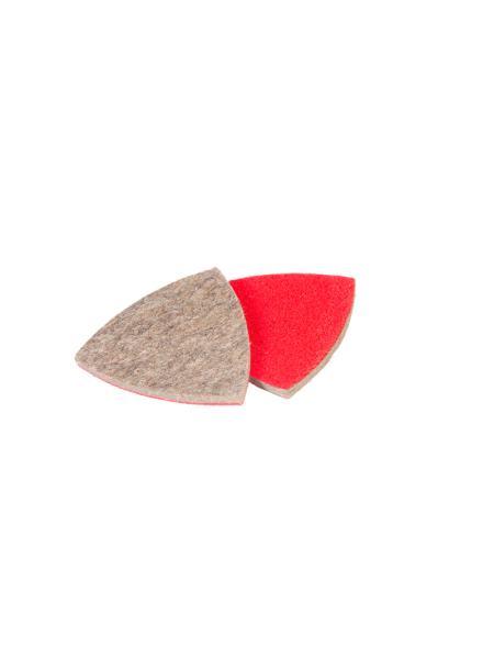 Насадка треугольная войлочная грубошерстная на липучке для реноватора 85 мм, 10 шт MASTERTOOL 08-6598