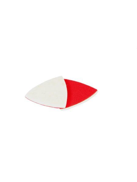 Насадка треугольная войлочная тканевая на липучке для реноватора 85 мм, 10 шт MASTERTOOL 08-6808