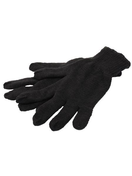 Перчатки трикотажные зимние двойные 70%хлопок/30%полиэстер 10 кл, 2 нити черные MASTERTOOL 83-0303