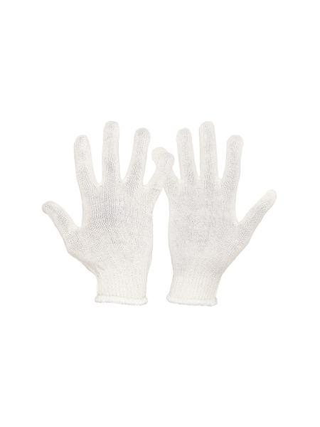 Перчатки УНИВЕРСАЛ трикотажные 70% хлопок/30% полиэстер 10 кл, 2 нити белая, 32 гр MASTERTOOL 83-0305