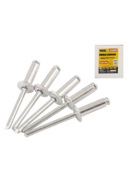 Слепые заклепки алюминиевые 4,8*12,70 мм, 500 шт MASTERTOOL 20-0655