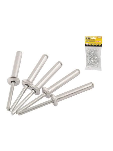 Слепые заклепки алюминиевые 4,8*14,48 мм, 50 шт MASTERTOOL 20-0660