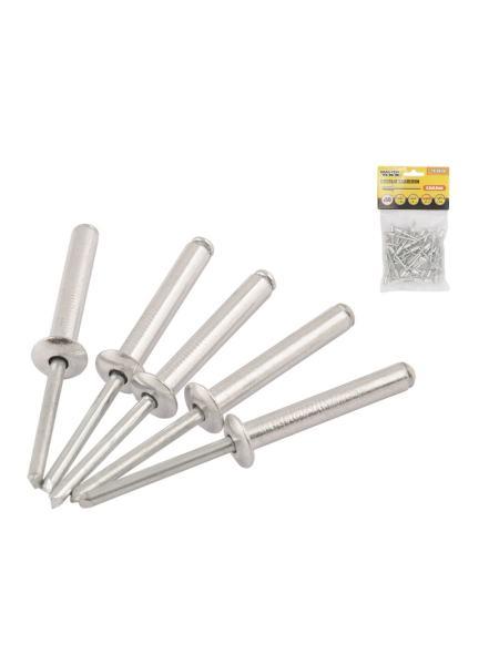Слепые заклепки алюминиевые 4,8* 8,00 мм, 50 шт MASTERTOOL 20-0630