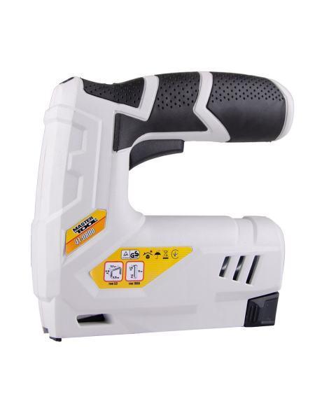 Степлер аккумуляторный, скоба 6-14 мм 11.3*0.7 мм, гвоздь 15 мм MASTERTOOL 41-0800
