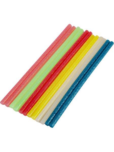 Стержни клеевые 7,2*200 мм, 12 шт, цветные неоновые MASTERTOOL 42-0166