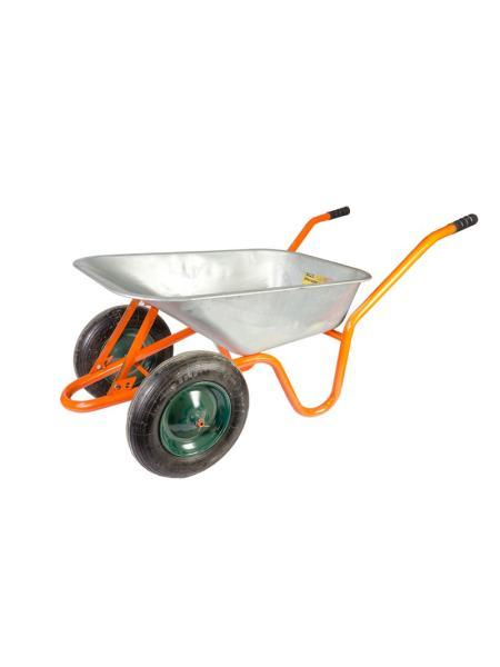 Тачка садово-строительная 85 л/ 160 кг, двухколесная MASTERTOOL 79-9849